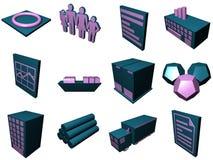 Iconos de proceso de la logística para el Su Foto de archivo