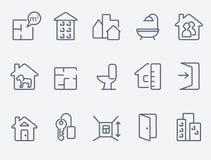 Iconos de Real Estate Imágenes de archivo libres de regalías