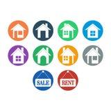 Iconos de Real Estate Imagen de archivo