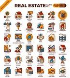 Iconos de Real Estate ilustración del vector