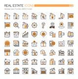 Iconos de Real Estate stock de ilustración