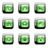 Iconos de reciclaje ambientales ilustración del vector