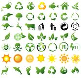 Iconos de reciclaje ambientales Fotografía de archivo libre de regalías