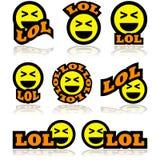 Iconos de risa ilustración del vector