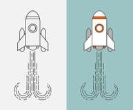 Iconos de Rocket fijados Fotografía de archivo