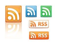 Iconos de Rss   Foto de archivo