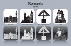 Iconos de Rumania stock de ilustración