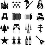Iconos de Rusia ilustración del vector