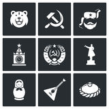 Iconos de Rusia Ilustración del vector Fotografía de archivo libre de regalías