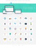 Iconos de SEO Imagenes de archivo