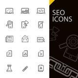 Iconos de SEO Imagen de archivo