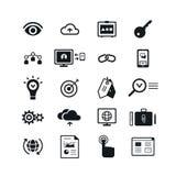 Iconos de SEO fijados Ilustración del vector Fotos de archivo libres de regalías