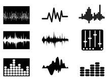 Iconos de soundwave de la música fijados