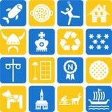 Iconos de Suecia libre illustration