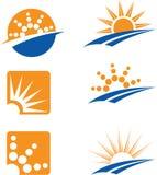 Iconos de Sun Imágenes de archivo libres de regalías