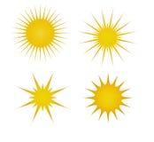 Iconos de Sun Fotografía de archivo