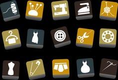 Iconos de Taylor fijados stock de ilustración