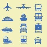 Iconos de Transportion Imagenes de archivo