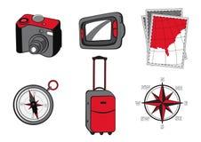 Iconos de Turistic Fotografía de archivo libre de regalías