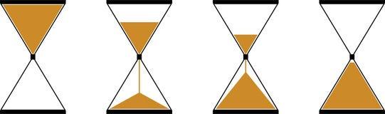 Iconos de un vector del reloj de arena fotos de archivo libres de regalías