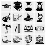 Iconos de una educación más alta fijados Foto de archivo libre de regalías