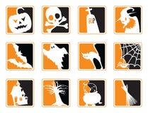 Iconos de Víspera de Todos los Santos Fotografía de archivo