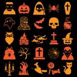 Iconos de Víspera de Todos los Santos Fotos de archivo