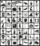 Iconos de Víspera de Todos los Santos ilustración del vector