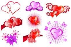 Iconos de Valentine Day Imagen de archivo