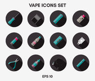 Iconos de Vape fijados Imagen de archivo