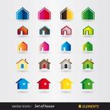Sistema de la casa del logotipo - propiedades inmobiliarias Imagen de archivo