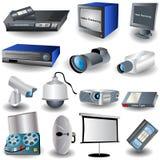 Iconos de Video&camera Imagen de archivo