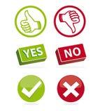 Iconos de votación Imágenes de archivo libres de regalías