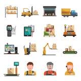 Iconos de Warehouse planos