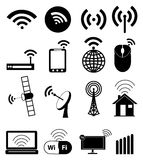 Iconos de Wifi fijados Fotos de archivo