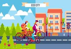 Iconos decorativos de la ciudad de Eco Imagen de archivo