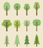 Iconos del árbol ilustración del vector