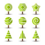 Iconos del árbol Imágenes de archivo libres de regalías