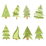 Iconos del árbol de navidad Foto de archivo libre de regalías