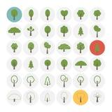 Iconos del árbol fijados ilustración del vector