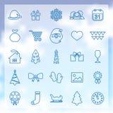 25 iconos del Año Nuevo Imagen de archivo libre de regalías