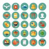 Iconos del Año Nuevo Foto de archivo libre de regalías