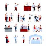 Iconos del abastecimiento fijados stock de ilustración