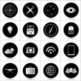 Iconos del abejón fotos de archivo
