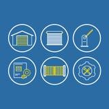 Iconos del acceso ilustración del vector
