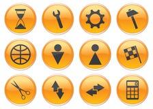 Iconos del adminículo fijados. ilustración del vector