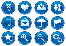 Iconos del adminículo fijados. Fotografía de archivo libre de regalías