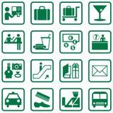 Iconos del aeropuerto Fotos de archivo libres de regalías