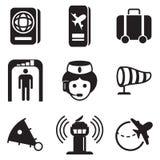 Iconos del aeropuerto Imagen de archivo