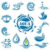 Iconos del agua Imágenes de archivo libres de regalías